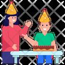 Son Birthday Birthday Party Celebrating Birthday Icon