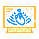 Heart Ultrasound Color Icon