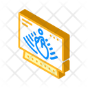 Heart Ultrasound Isometric Icon