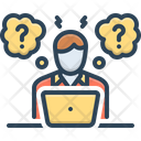 Sophisticated Question Work Icon