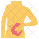 Backache Lower Back Injury Chronic Pain Icon