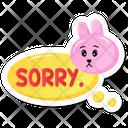Sorry Bunny Icon