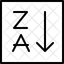 Sort Alphabetically Filter Icon