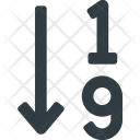 Sort Numbers Numeric Icon