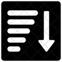 Sort List Algorithm Icon