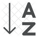 Sorting A To Z Filter Icon