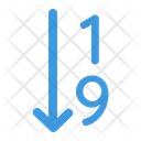 Sort Number Number Count Icon