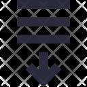 Sorting Alignment Arrow Icon