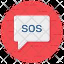 Sos Distress Signal Alert Icon