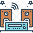 Audios Sound Music System Icon