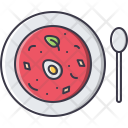 Soup Spoon Plate Icon