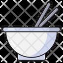 Bowl Chopstick Food Icon