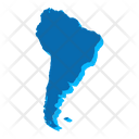 South America Map Icon