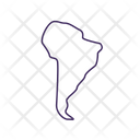 South America Covid Variant Icon
