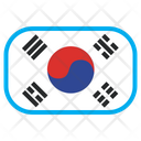 South Korea Country Flag Icon