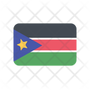 South Sudan Flag Country Icon