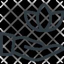 Spa Care Hand Icon