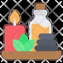 Spa Massage Candle Icon