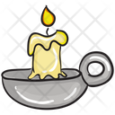 Spa Candle Light Stand Candle Light Icon