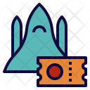 Space Travel Ticket Icon