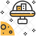 Space Colony Research Icon