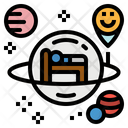 Space Hotel Transportation Icon