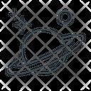 Astronomy Planet Saturn Icon