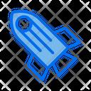 Space Rocket Transportation Icon