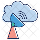 Cloud Technology Satellite Dish Space Antenna Icon