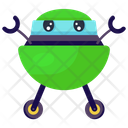 Space Capsule Space Robot Spacecraft Robot Icon