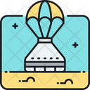 Space Capsule Delivery Flying Icon