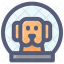 Dog Space Astronaut Icon