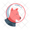 Space Dog Spacesuit Icon