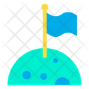 Astronaut Flag Lunar Icon