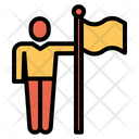 Astronaut Flag Space Icon