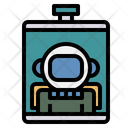 Space Food Energy Gel Spaceman Icon