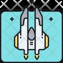Space Interceptor Space Shuttle Spacecraft Icon
