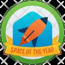 Space Logo Badge Reward Marker Icon