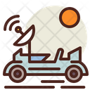 Space Rover Space Car Satellite Antenna Icon