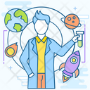 Space Scientist Space Researcher Scientist Icon