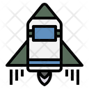 Space Shuttle Spaceship Transportation Icon