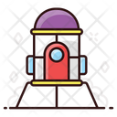 Space Station Space Exploration Satellite House Icon