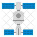 Space Station Spacecraft Satellite Dish Icon