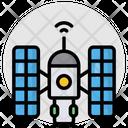 Planetarium Observatory Space Station Icon
