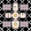 Space Station Satellite Station Satellite Icon