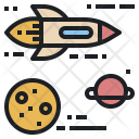 Space Traveling Launch Icon