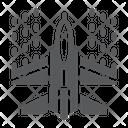 Spaceship Shoot Shooting Icon