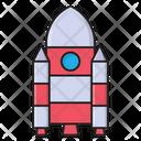 Spaceship Rocket Aircraft Icon