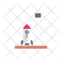 Spaceship Rocket Tower Icon