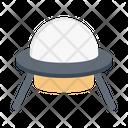 Spaceship Ufo Satellite Icon